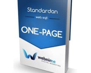 Izrada ONE-PAGE sajta
