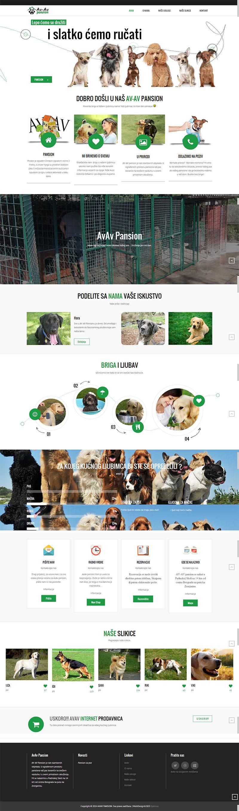 Уеб сайт за пансион за кучета