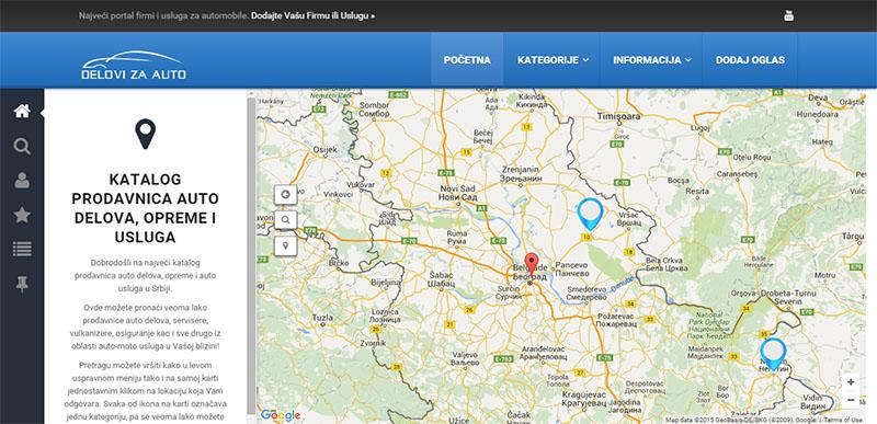 Уеб портал за авто услуги и фирми (Сърбия)