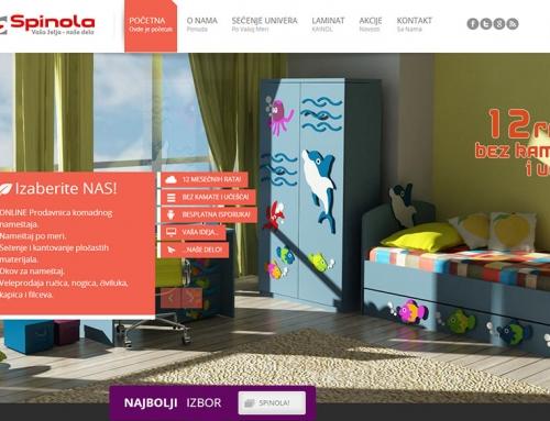 Web sajt za nameštaj