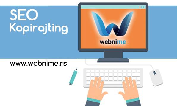 SEO optimizacija sajta, SEO kopirajting, webnime