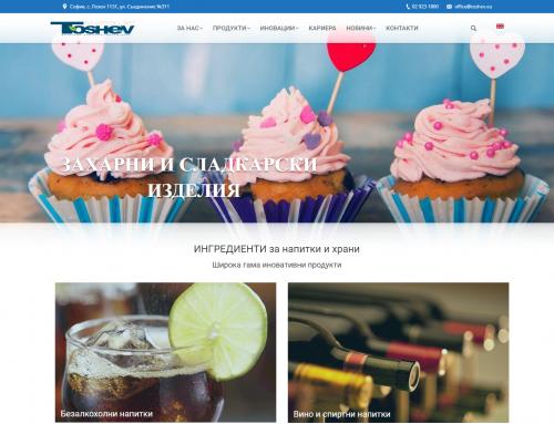 Izrada korporativnog sajta za Toshev Ltd