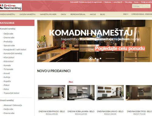 Online prodavnica za nameštaj