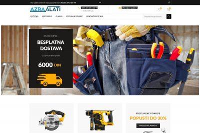 Izrada sajta za online prodaja alata