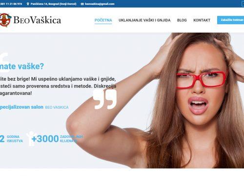 Izrada sajta za Salon BEO Vaškica