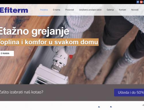 Izrada sajta za EFITERM d.o.o.