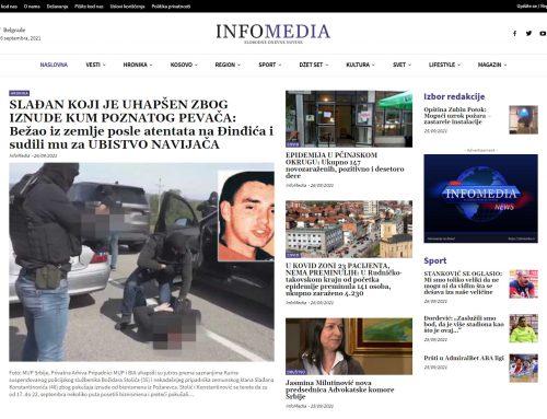 Izrada novinarskog sajta – InfoMedia